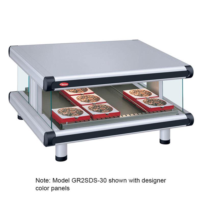 Hatco GR2SDS-36 Designer Slant Display Warmer, 1 Shelf w/ 7 Rods, 995 W