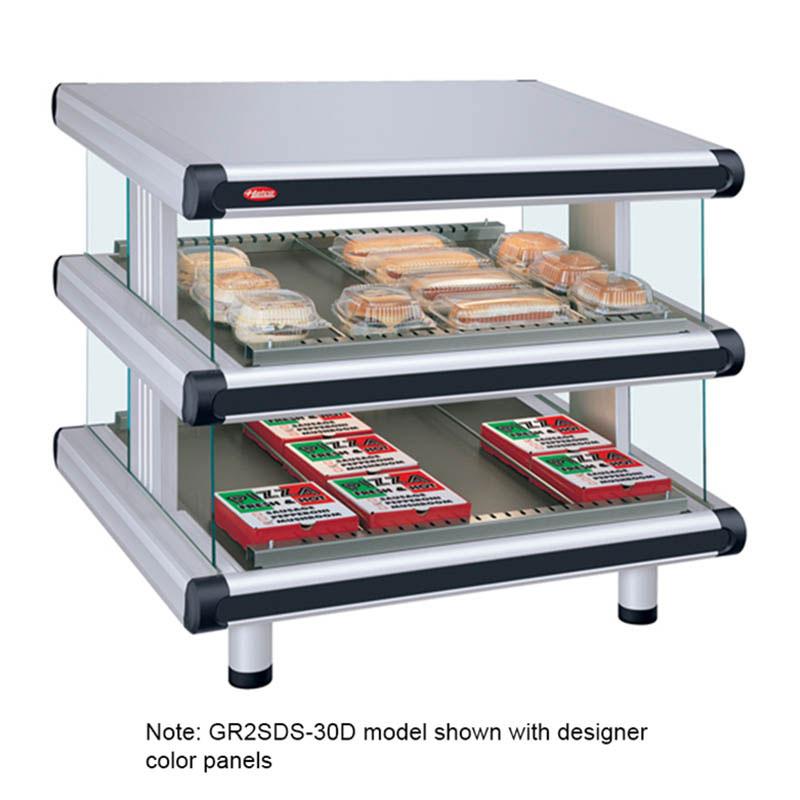 "Hatco GR2SDS-36D 42.25"" Self-Service Countertop Heated Display Shelf - (2) Shelves, 208v/1ph"