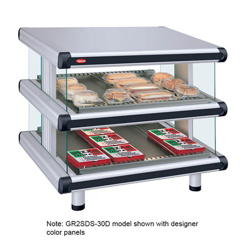 "Hatco GR2SDS-54D 208 60.25"" Self-Service Countertop Heated Display Shelf - (2) Shelves, 208v/1ph"