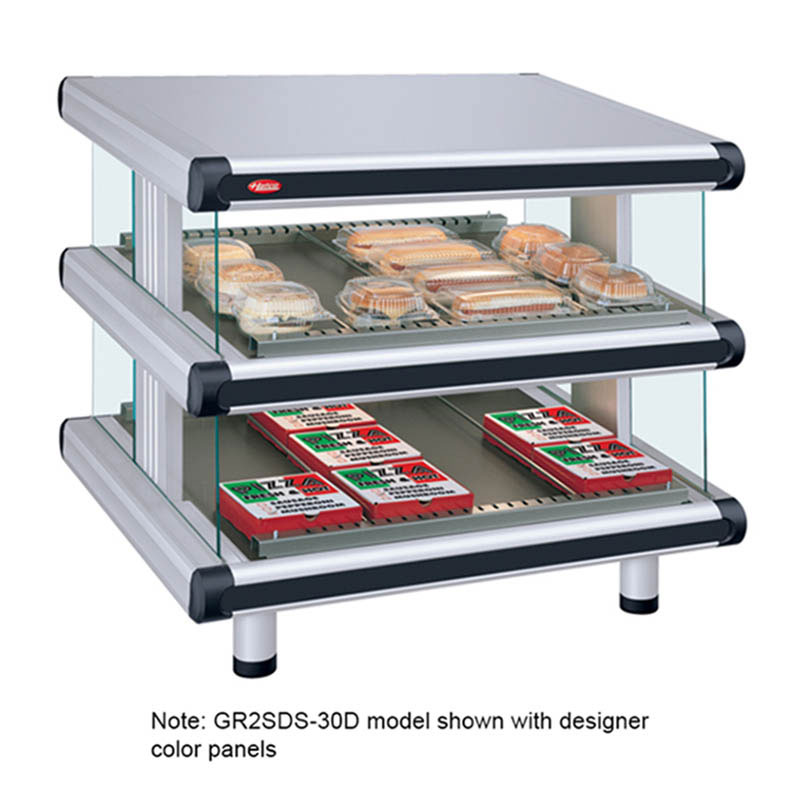"Hatco GR2SDS-54D 60.25"" Self-Service Countertop Heated Display Shelf - (2) Shelves, 240v/1ph"