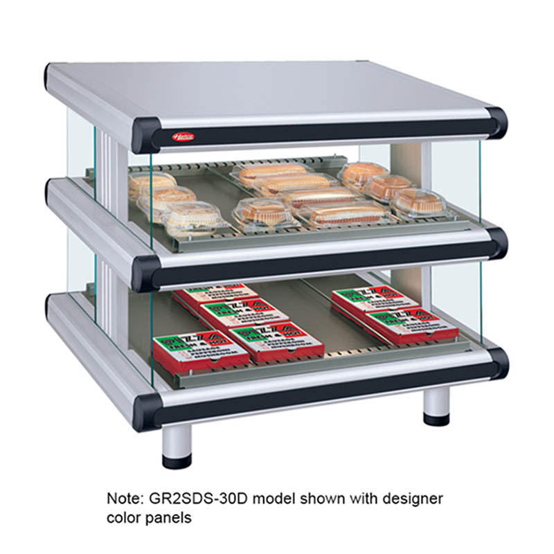 "Hatco GR2SDS-60D 66.25"" Self-Service Countertop Heated Display Shelf - (2) Shelves, 240v/1ph"