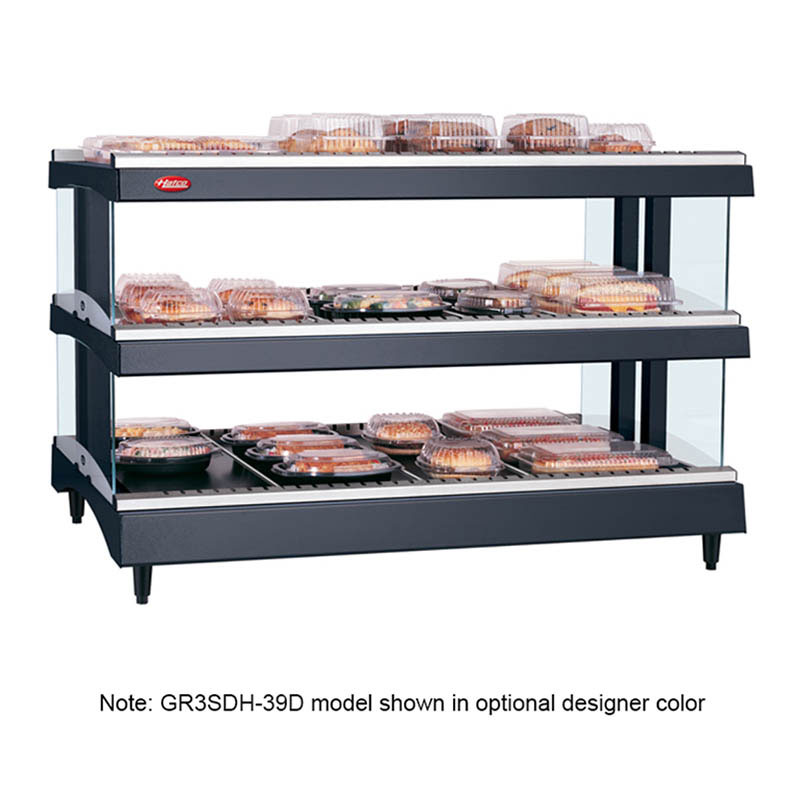 Hatco GR3SDH-39D 208 Glo-Ray Horizontal Display Warmer, 2-Shelves w/ 21-Rods, 120/208 V