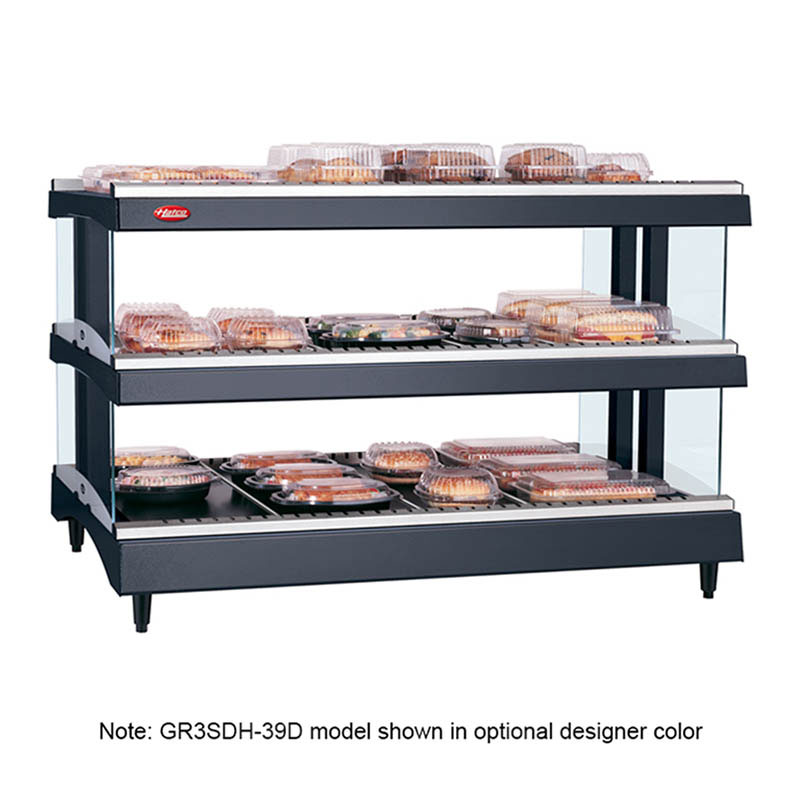 "Hatco GR3SDH-39D 39.18"" Self-Service Countertop Heated Display Shelf - (3) Shelves, 240v/1ph"
