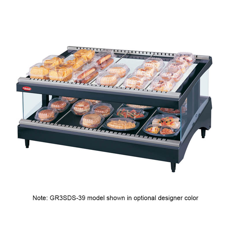 Hatco GR3SDS-33 Glo-Ray Designer Slant Display Warmer 12 Rods 1 Shelf 1240 W Restaurant Supply