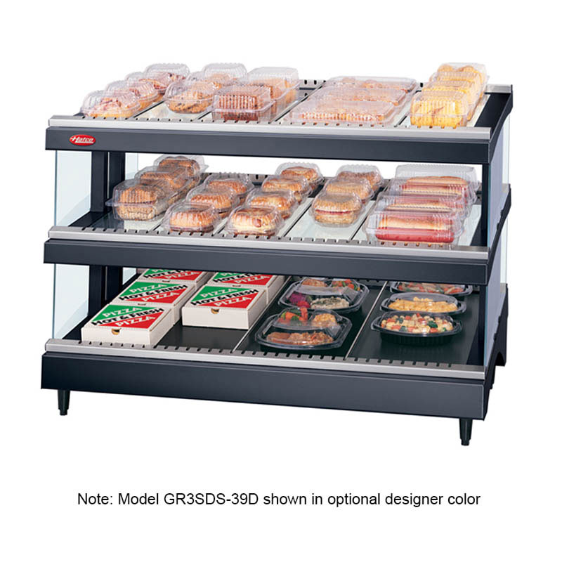 "Hatco GR3SDS-33D 33.18"" Self-Service Countertop Heated Display Shelf - (3) Shelves, 240v/1ph"
