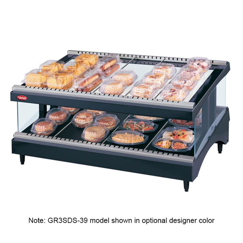 Hatco GR3SDS-39 Glo-Ray Designer Slant Display Warmer, 14 Rods, 1 Shelf, 1490 W
