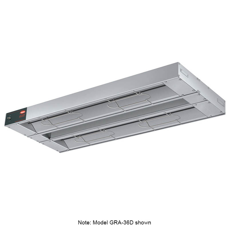 """Hatco GRA-96D3 96"""" Infrared Foodwarmer, Dual w/ 3"""" Spacing, 240 V"""
