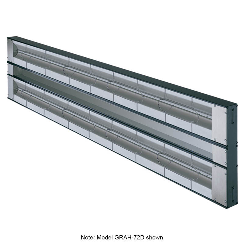 "Hatco GRAH-132D6 208 132"" Infrared Foodwarmer, Dual w/ 6"" Space & High Watt, 208 V"