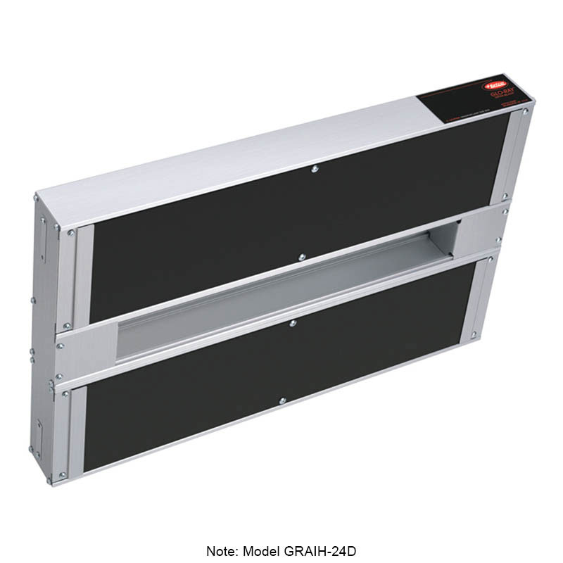 "Hatco GRAIH-24D6 240 24"" Infrablack Foodwarmer, Dual w/ 6"" Space & High Watt, 240 V"