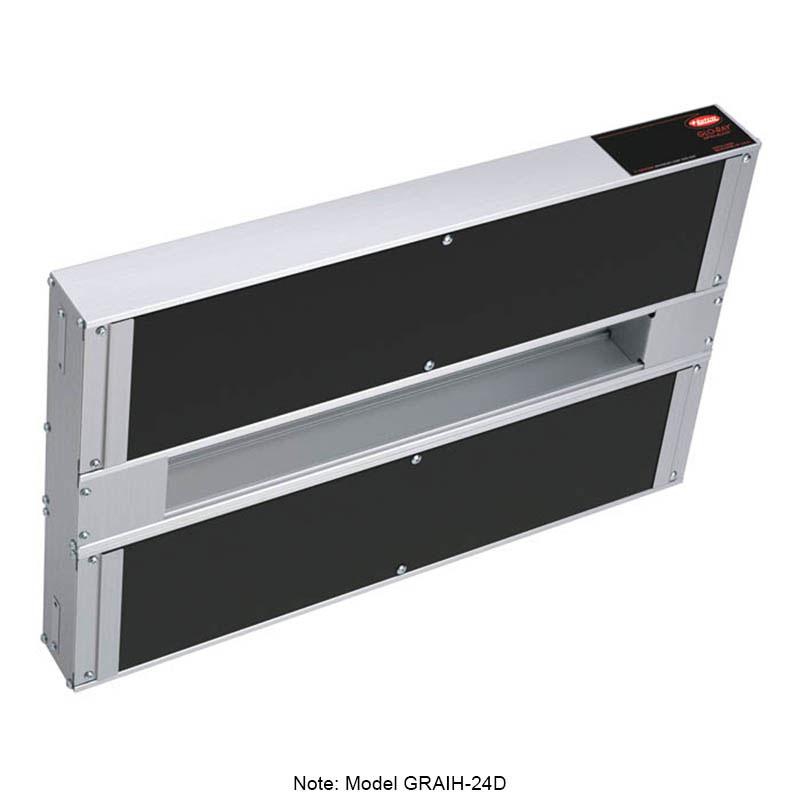 "Hatco GRAIH-66D3 208 66"" Infrablack Foodwarmer, Dual w/ 3"" Space & High Watt, 208 V"