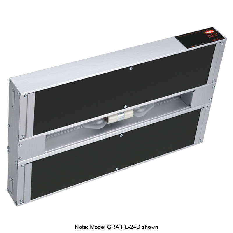 "Hatco GRAIHL-30D6 30"" Infrablack Foodwarmer, Dual, 6"" Space, Light, High Watt, 120"