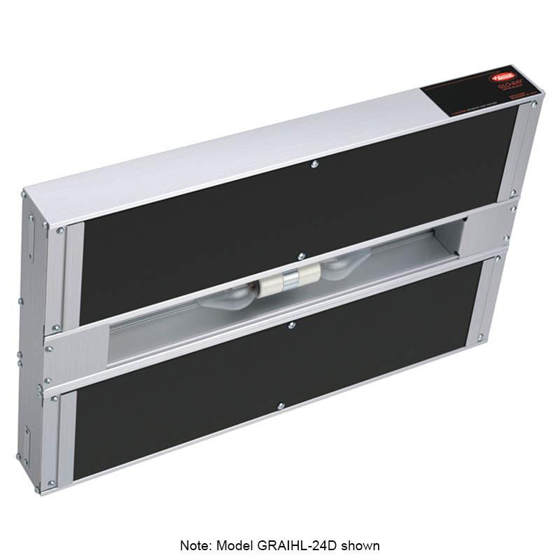 "Hatco GRAIHL-30D6 30"" Infrablack Foodwarmer, Dual, 6"" Space, Light, High Watt, 208"
