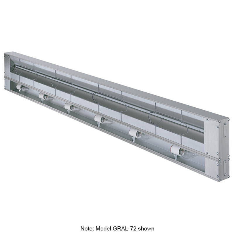 """Hatco GRAL-72 240 72"""" Infrared Foodwarmer w/ Lights, 120/240 V"""