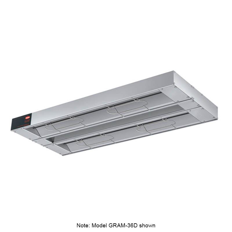 "Hatco GRAM-108D3 108"" Foodwarmer, Dual w/ 3"" Spacing, 240 V"
