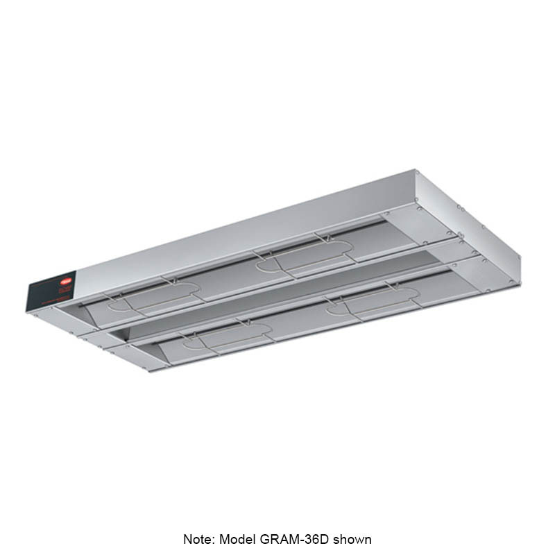 "Hatco GRAM-132D3 132"" Foodwarmer, Dual w/ 3"" Spacing, Max Watt, 208 V"