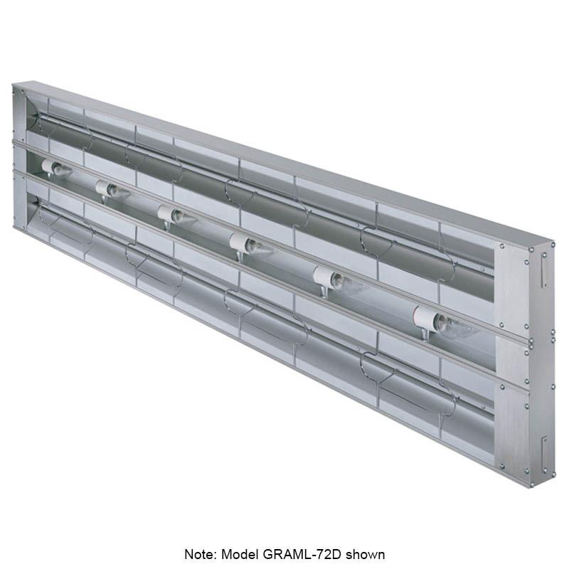 "Hatco GRAML-132D6 208 132"" Foodwarmer, Dual w/ 6"" Spacing, Max Watt & Lights, 208 V"