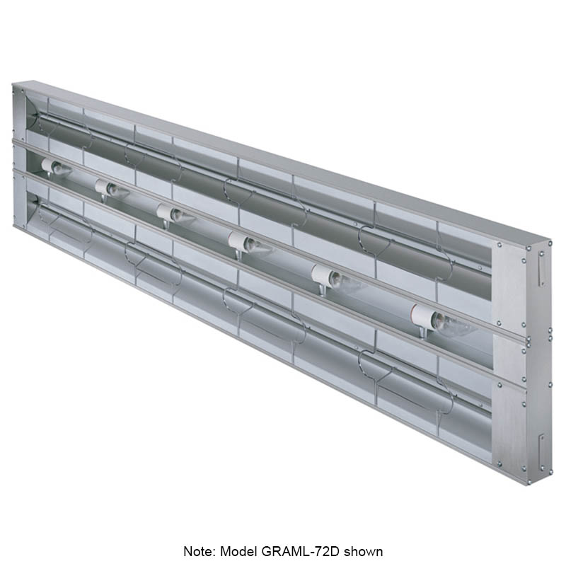 "Hatco GRAML-96D6 208 96"" Foodwarmer, Dual w/ 6"" Spacing, Max Watt & Lights, 208 V"