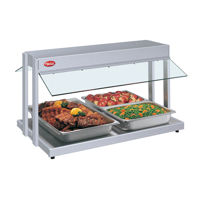 "Hatco GRBW-30 31-1/8"" Buffet Warmer, Sneeze Guards, Light & Heated Base, 120v"