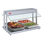 "Hatco GRBW-30 240 31-1/8"" Buffet Warmer, Sneeze Guards, Light & Heated Base, 240 V"