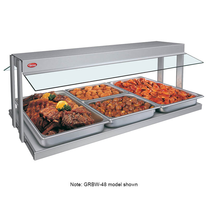 "Hatco GRBW-42 240 43-1/8"" Buffet Warmer, Sneeze Guards, Light & Heated Base, 240 V"