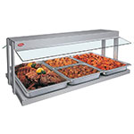 "Hatco GRBW-48 240 49-1/8"" Buffet Warmer, Sneeze Guards, Light & Heated Base, 240 V"