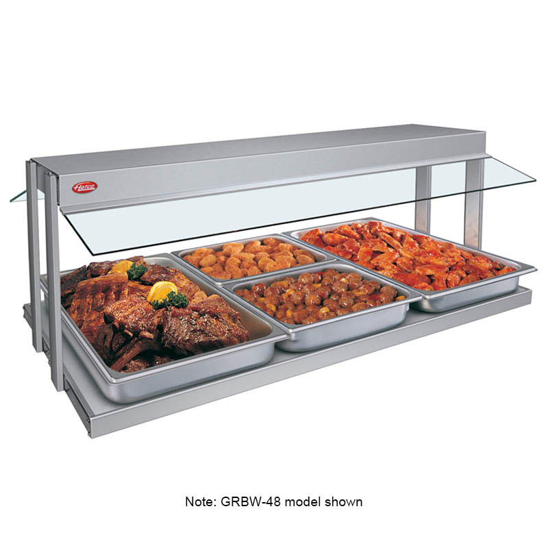 "Hatco GRBW-54 55-1/8"" Buffet Warmer, Sneeze Guards, Light & Heated Base, 208 V"