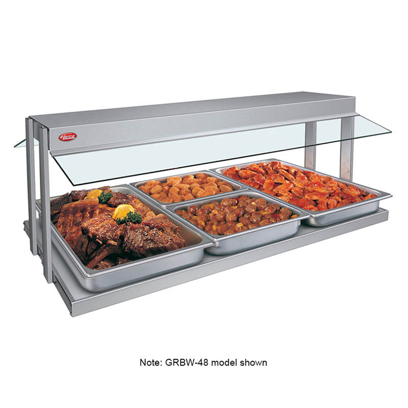 "Hatco GRBW-60 240 61-1/8"" Buffet Warmer, Sneeze Guards, Light & Heated Base, 240 V"
