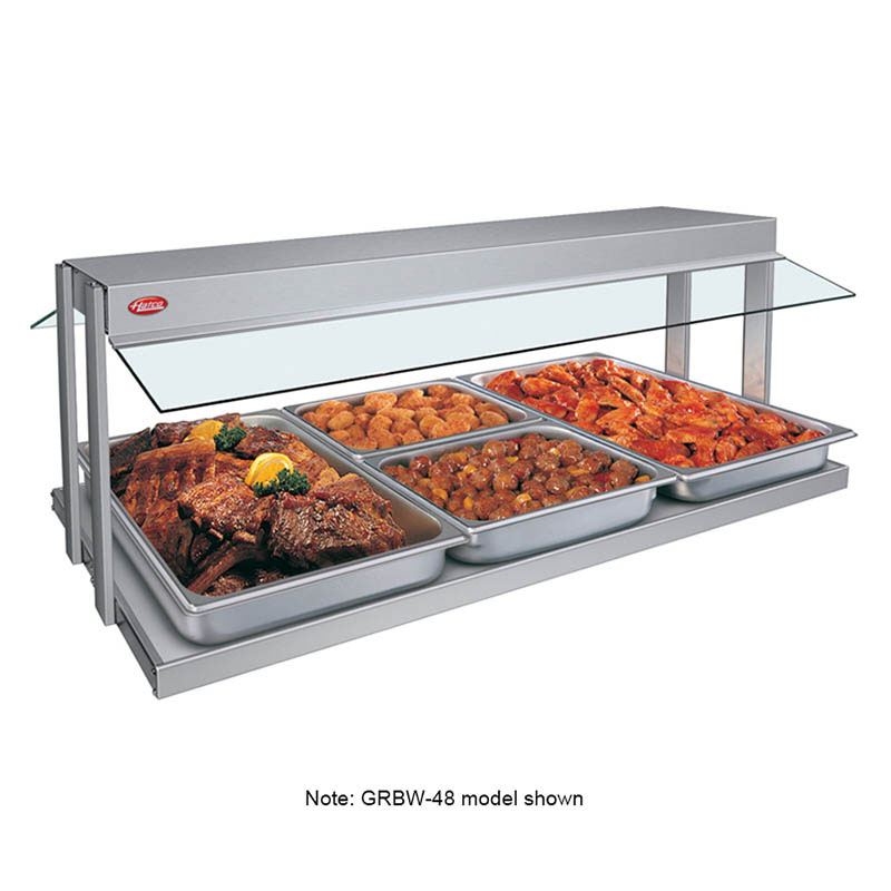 "Hatco GRBW-66 67-1/8"" Buffet Warmer, Sneeze Guards, Light & Heated Base, 240v"