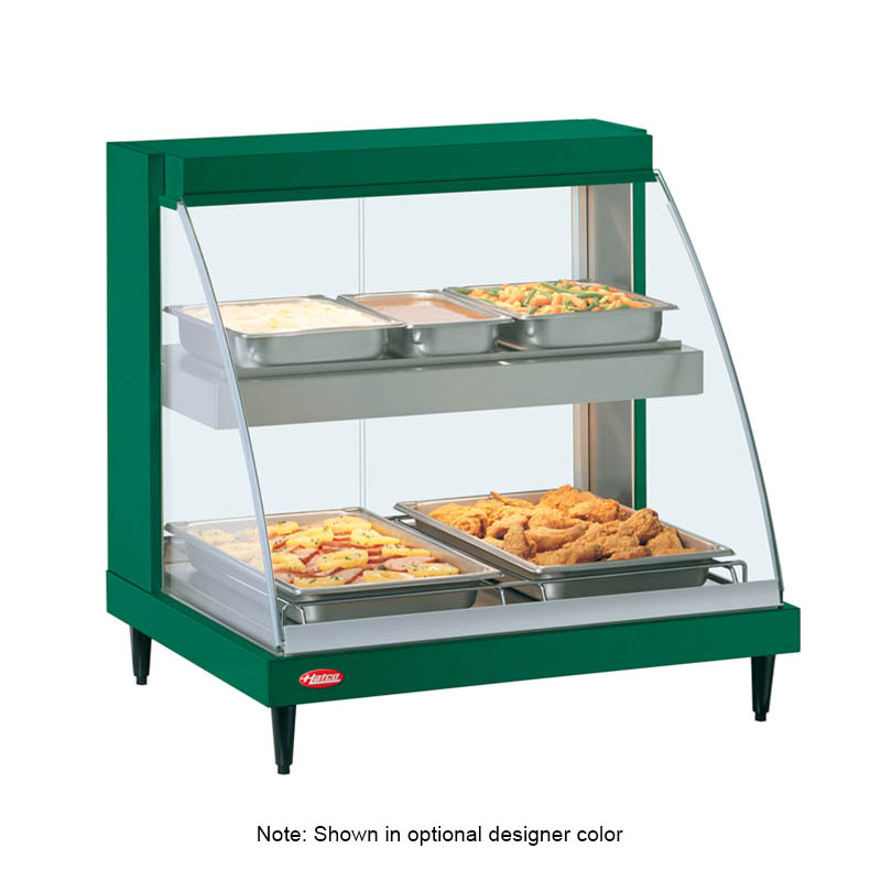 Hatco GRCD-2PD Glo-Ray Heated Display Case, 2 Pan Dual Shelf