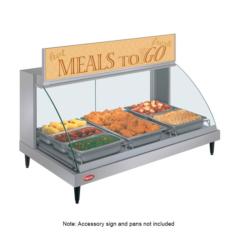Hatco GRCD-3P Glo-Ray Heated Display Case, 3 Pan Single Shelf