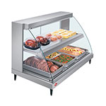 Hatco GRCD-3PD-120-QS Glo-Ray Heated Display Case, 3 Pan Dual Shelf