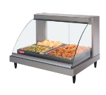 Hatco GRCDH2PDBK Heated Display Case, Humidity & Curved Glass, 2-Pan Shelf, Incadescent 1030-watt