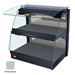 """Hatco GRCMW-1D 26"""" Self-Service Countertop Heated Display Case w/ Curved Glass - (2) Levels, White, 120v"""