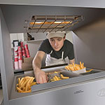 """Hatco GRFHS-PTT21 22.75"""" Glo-Ray® Tunnel Portable Fry Holding Station - Rod-Type, 120v"""