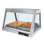 Hatco GRHD-2P Glo-Ray Heated Display, Countertop, See-Thru, 1 Shelf, 2-Pan, 940 W
