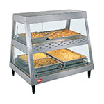 "Hatco GRHD-2PD 32.5"" Full-Service Countertop Heated Display Case w/ Straight Glass - (2) Levels, 120v"