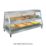 "Hatco GRHD-4P 58.5"" Full-Service Countertop Heated Display Case w/ Straight Glass - (1) Level, 120v"
