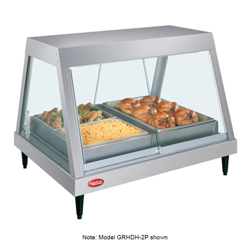 Hatco GRHDH-3P 46-2/5-in Heated Glass Front Display Case w/ 3-Pan Shelf, 120 V