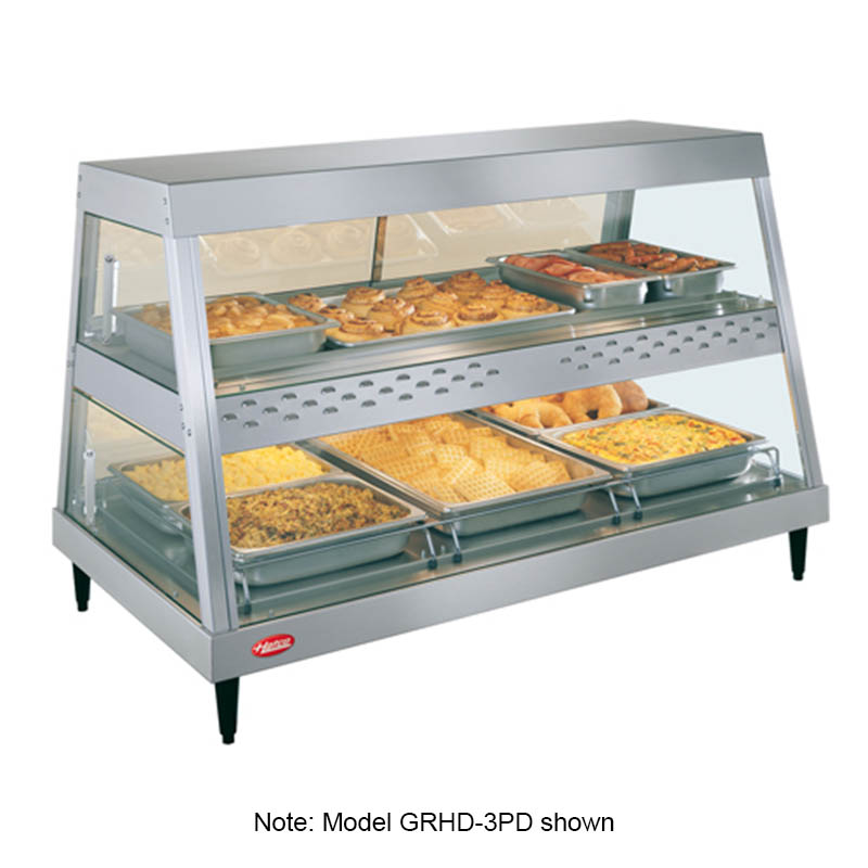 Hatco GRHDH-3PD Heated Display, 3-qt Humidity, 2-Shelves, 3-Pan Each, 2005 Watts