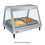 "Hatco GRHDH-4P 58.5"" Full-Service Countertop Heated Display Case w/ Straight Glass - (1) Level, 208v/1ph"