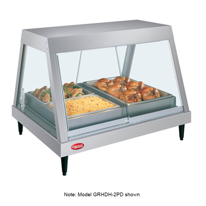 Hatco GRHDH-4P 208 59-2/5-in Heated Glass Front Display Case w/ 4-Pan Shelf, 208 V