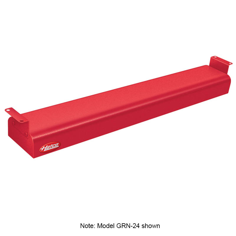"Hatco GRN-30 120 RED 30"" Narrow Infrared Foodwarmer, Warm Red, 120 V"