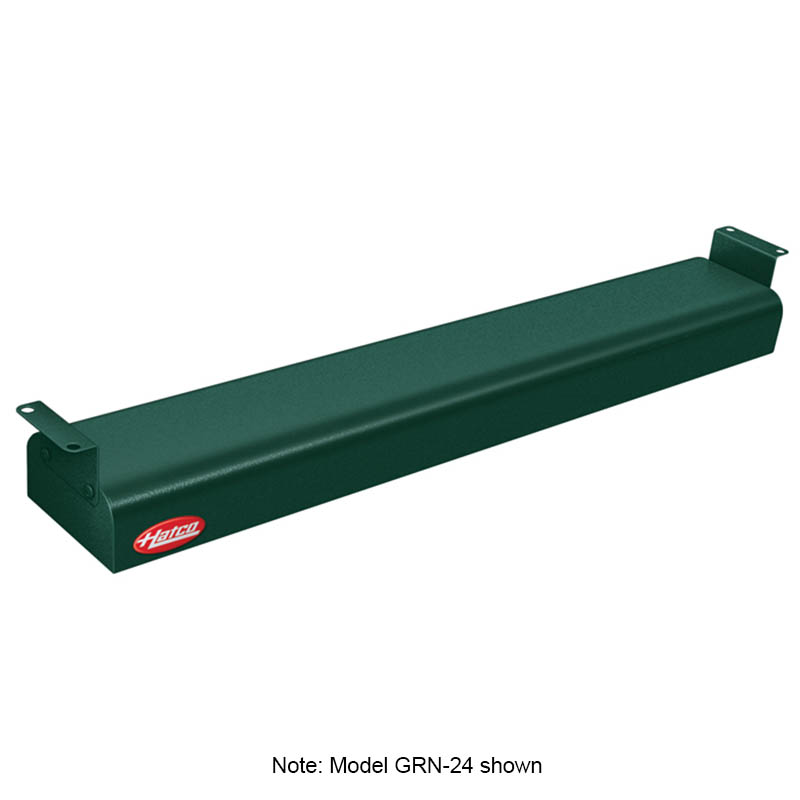 "Hatco GRN-30 240 GREEN 30"" Narrow Infrared Foodwarmer, Hunter Green, 240 V"