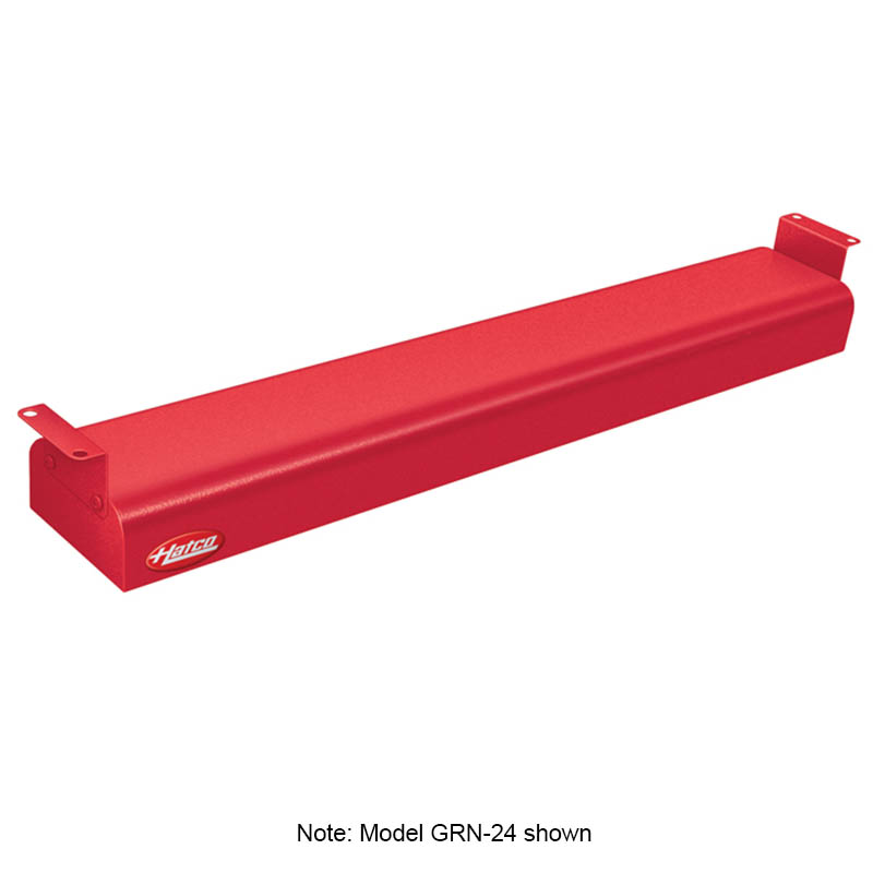 "Hatco GRN-36 120 RED 36"" Narrow Infrared Foodwarmer, Warm Red, 120 V"