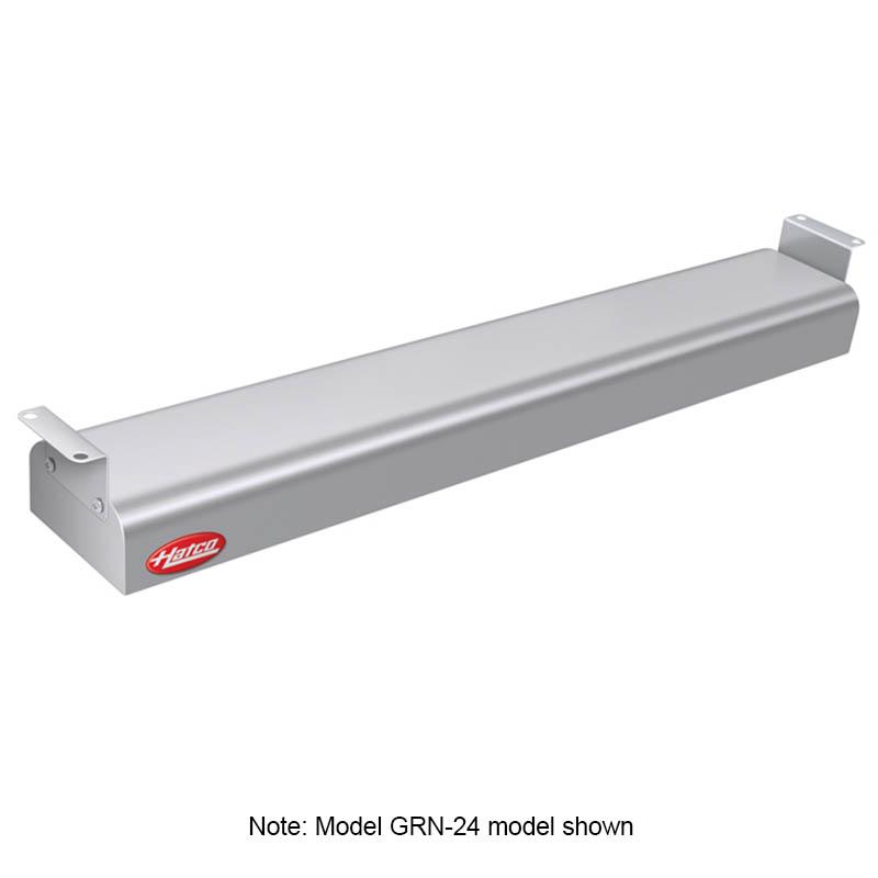 """Hatco GRN4-18 GGRAY 18"""" Narrow Halogen Foodwarmer, Glossy Gray, 120 V"""