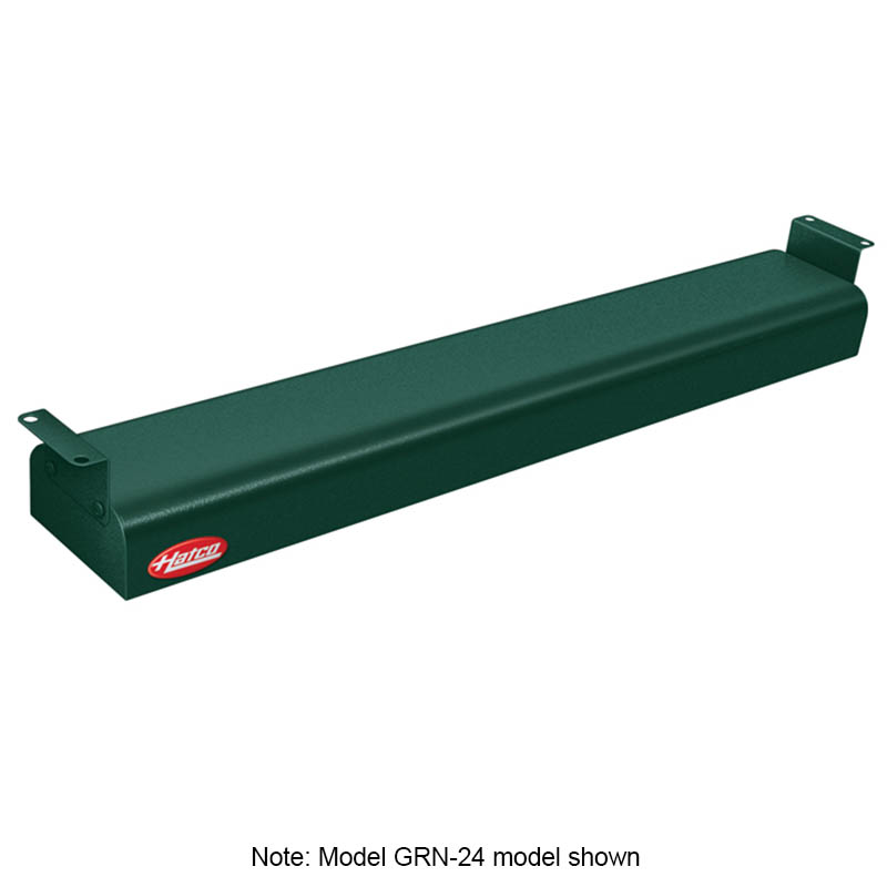 "Hatco GRN-42 120 GREEN 42"" Narrow Infrared Foodwarmer, Hunter Green, 120 V"