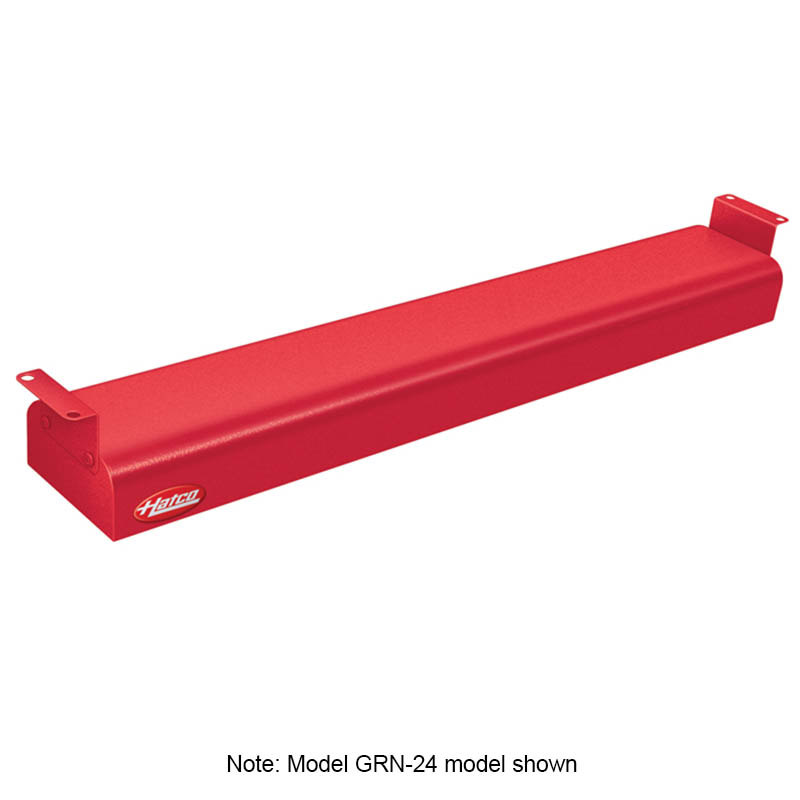 "Hatco GRN-42 120 RED 42"" Narrow Infrared Foodwarmer, Warm Red, 120 V"