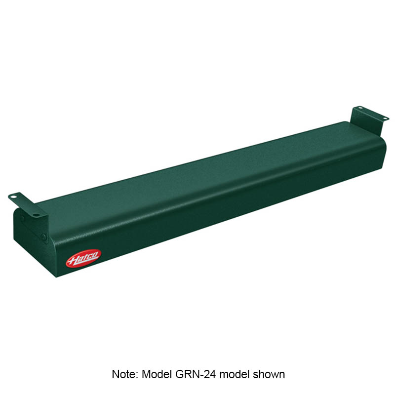 "Hatco GRN-42 240 GREEN 42"" Narrow Infrared Foodwarmer, Hunter Green, 240 V"