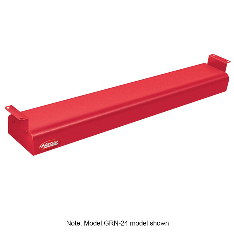 """Hatco GRN-42 240 RED 42"""" Narrow Infrared Foodwarmer, Warm Red, 240 V"""