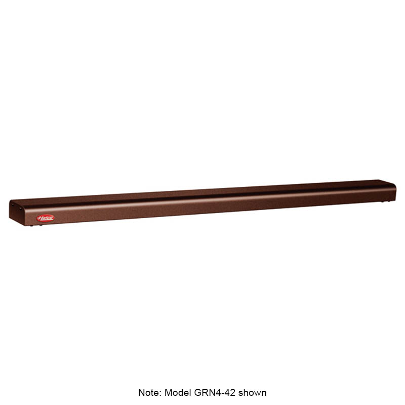 "Hatco GRN4-54 COPPER 54"" Narrow Halogen Foodwarmer, Antique Copper, 120 V"